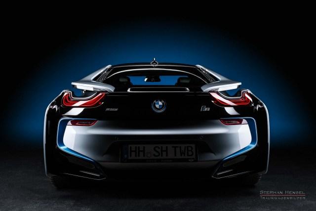 BMW i8, Ansicht von hinten, Autofotograf: Stephan Hensel, Hamburg