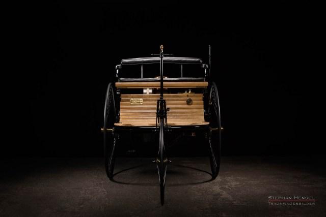 Benz Patent-Motorwagen Nr.1, Das erste Automobil, Ansicht von vorn, Oldtimerfotografie: Stephan Hensel, Hamburg, Oldtimerfotograf, Oldtimer, Oldtimerfotografie