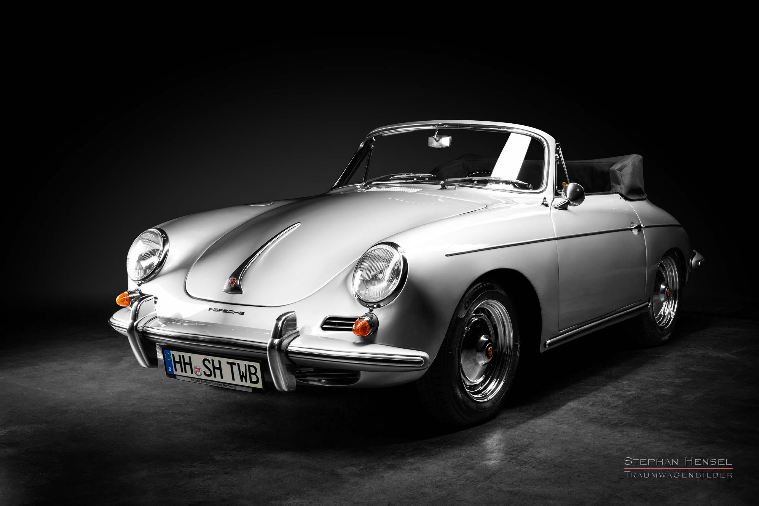 Porsche 356 B, Ansicht von links vorn, Autofotografie: Stephan Hensel, Hamburg, Oldtimerfotograf, Autofotograf, Automobilfotograf, Oldtimerfotografie