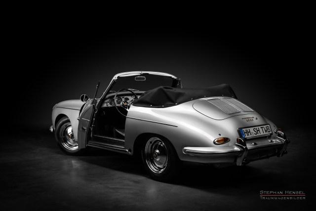 Porsche 356 B, Ansicht von links hinten, Autofotografie: Stephan Hensel, Hamburg, Oldtimerfotograf, Autofotograf, Automobilfotograf, Oldtimerfotografie