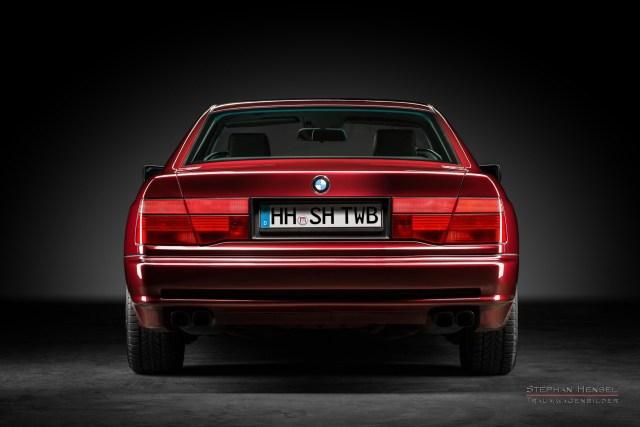 BMW 850i, 1991, Heckansicht, Autofotograf, Hamburg, Automobilfotograf, Oldtimerfotograf, Oldtimerfotografie, Car Photography, Stephan Hensel