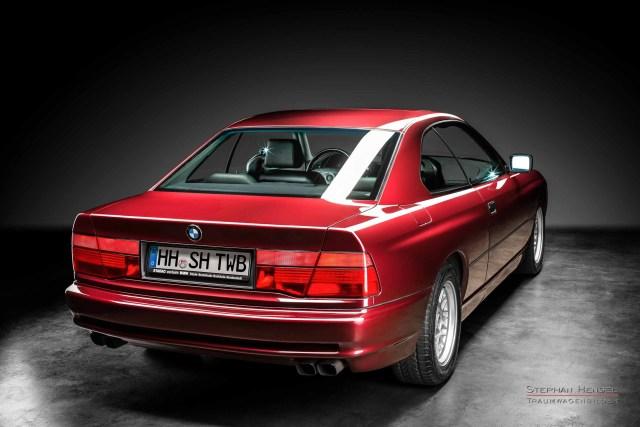 BMW 850i, 1991, Heckansicht von rechts, Autofotograf, Hamburg, Automobilfotograf, Oldtimerfotograf, Oldtimerfotografie, Car Photography, Stephan Hensel