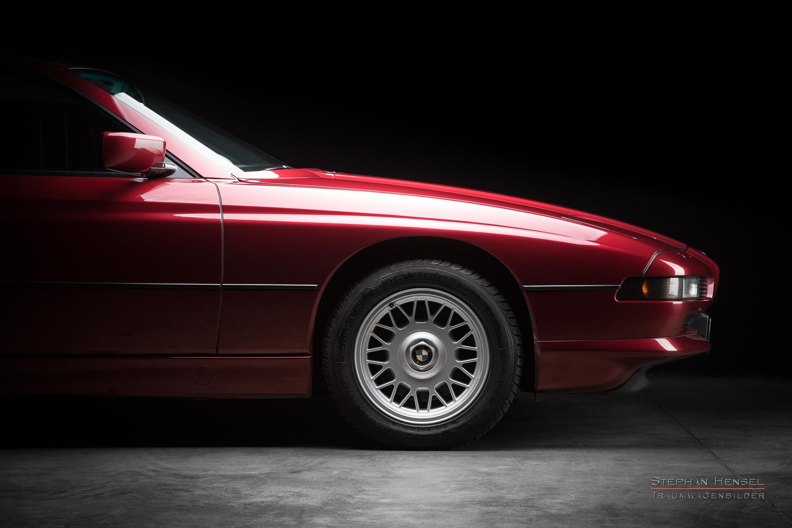 BMW 850i, 1991, Seitenansicht, Autofotograf, Hamburg, Automobilfotograf, Oldtimerfotograf, Oldtimerfotografie, Car Photography, Stephan Hensel