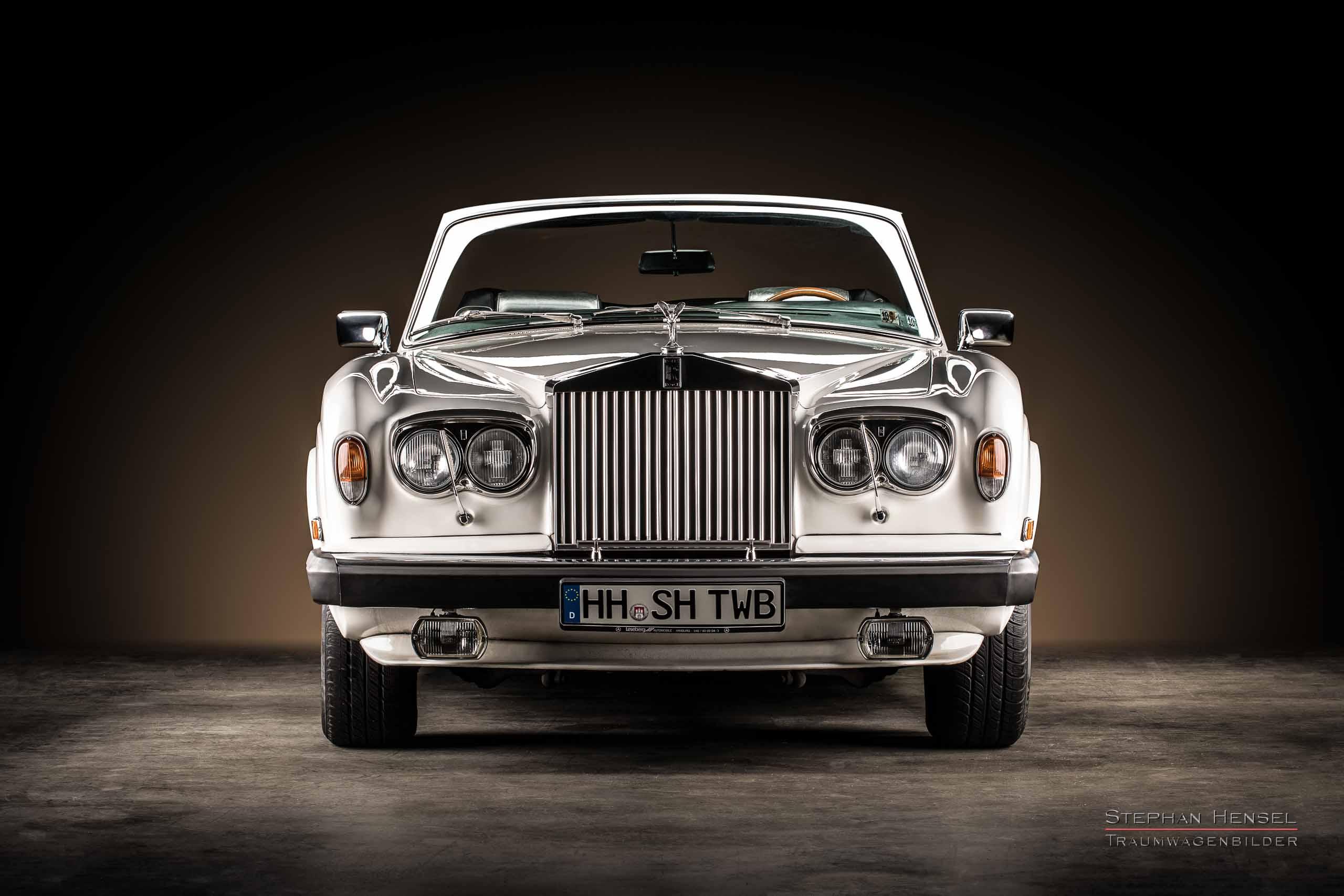 Rolls-Royce Corniche, 1979, Frontalansicht, Autofotograf, Hamburg, Automobilfotograf, Oldtimerfotograf, Oldtimerfotografie, Car Photography, Stephan Hensel