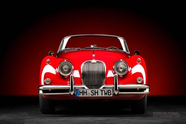 Jaguar XK 150 DHC, 1958, Frontalansicht, Autofotograf, Hamburg, Automobilfotograf, Oldtimerfotograf, Oldtimerfotografie, Car Photography, Stephan Hensel