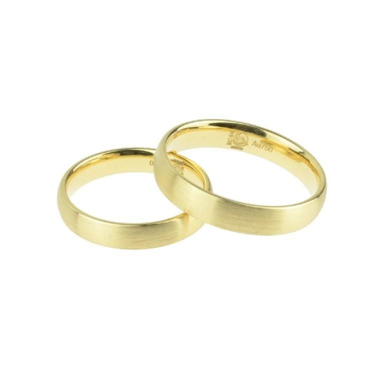 Trauring Emsdetten Ehering schlicht matt Gold