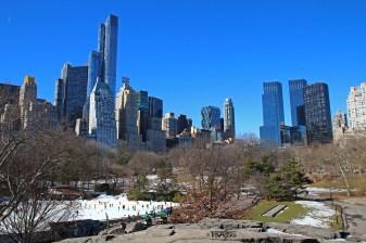 Central Park in Manhattan - Fast leer im Winter