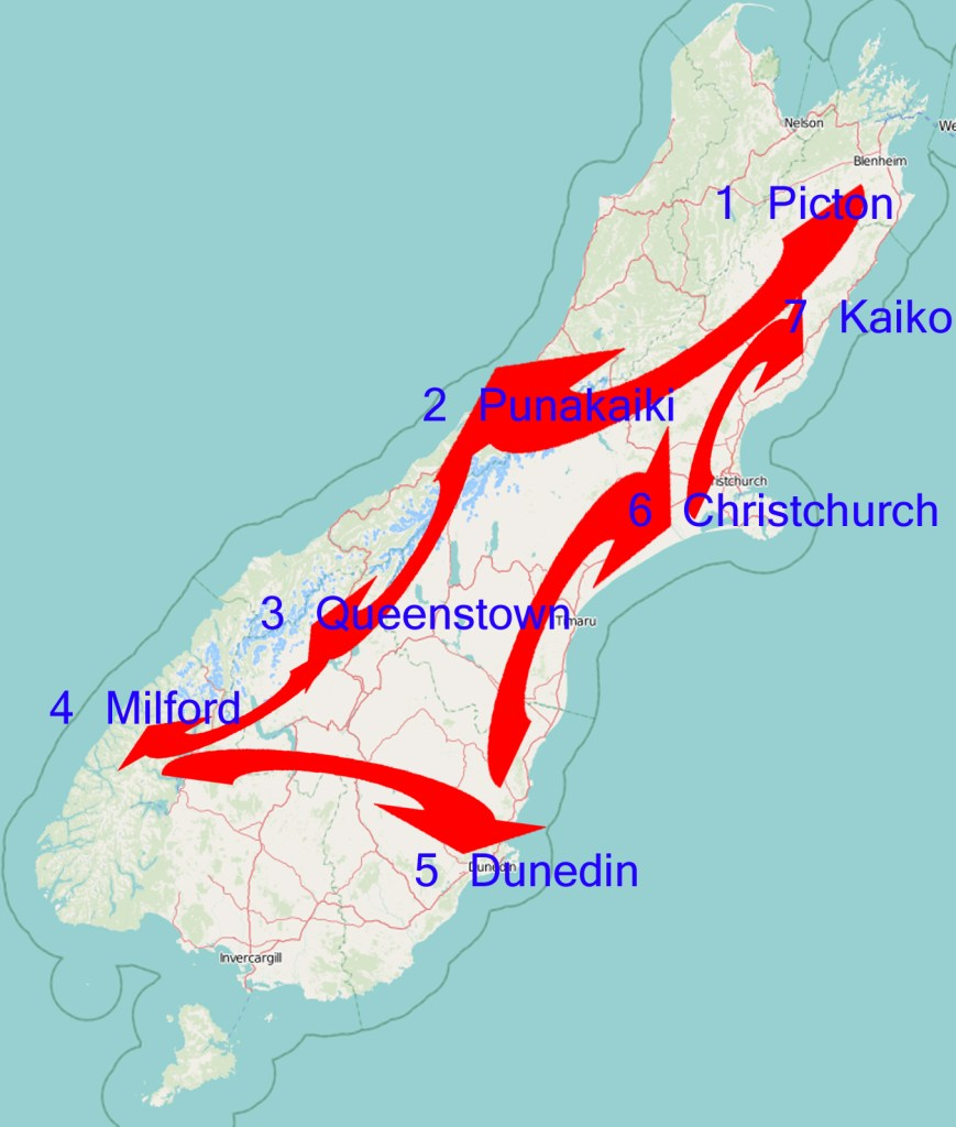 New Zealand's South Island Itinerary