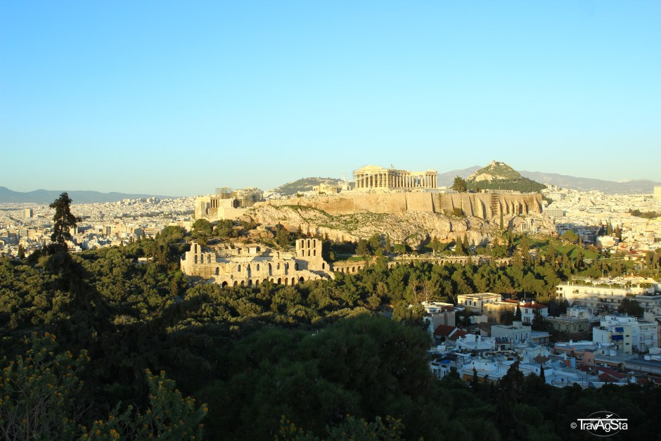 Philopappos hill, Athens, Greece