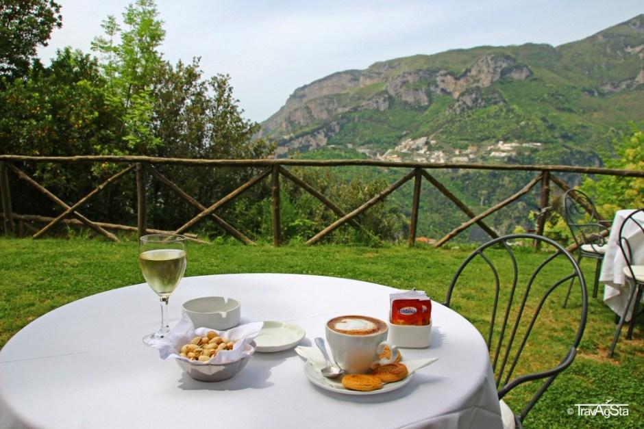 Wine and capuccino, Ravello, Amalfi Coast, Italy