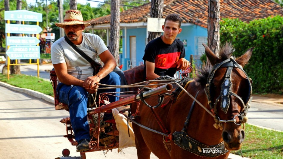 Agricultural vehicles in Vinales, Cuba