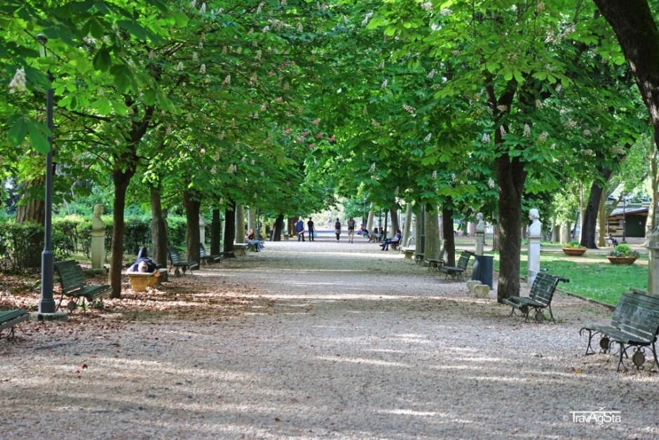 Pincio Park, Rome, Italy