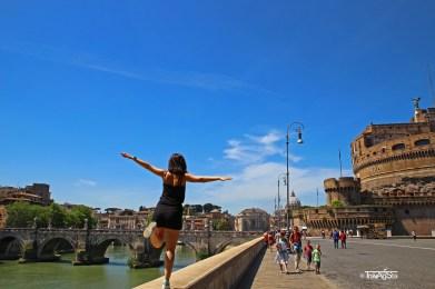 Rome, Castel Sant' Angelo,Ponte Angelo