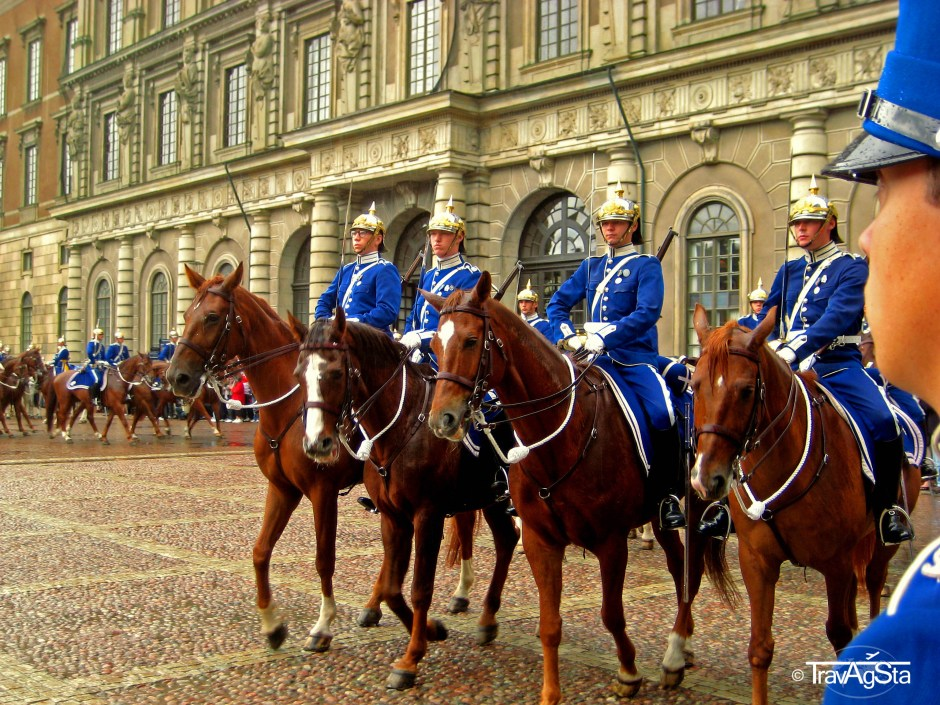 Changing guards at the Royal Castle, Stockholm