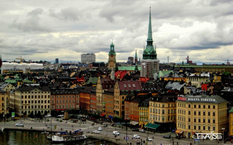 Blick vom Slussen auf Gamla Stan, Stockholm