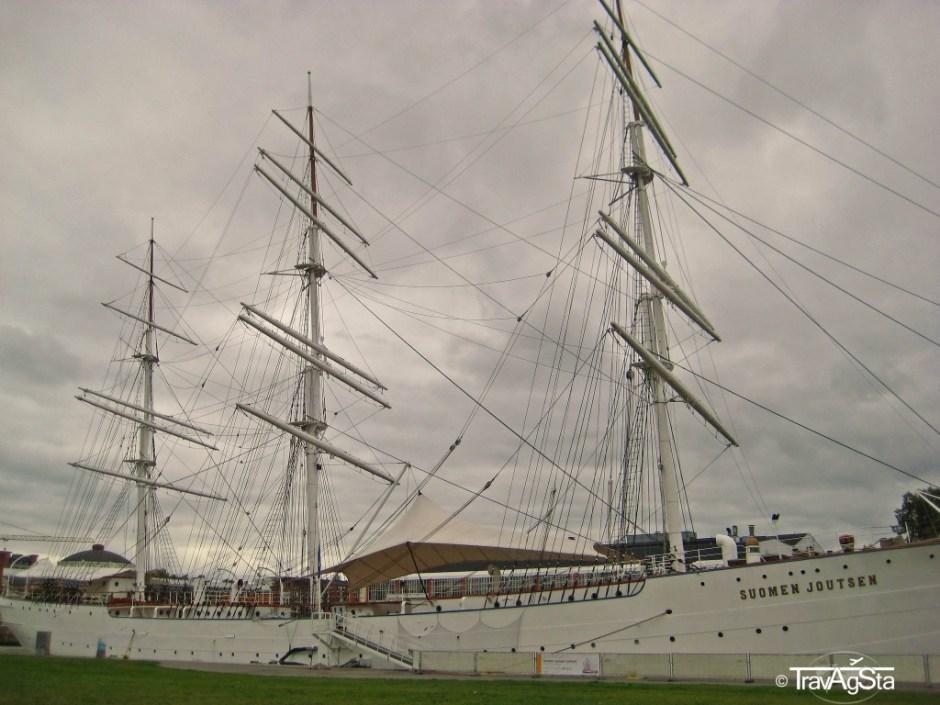 Ship lying in Turku port