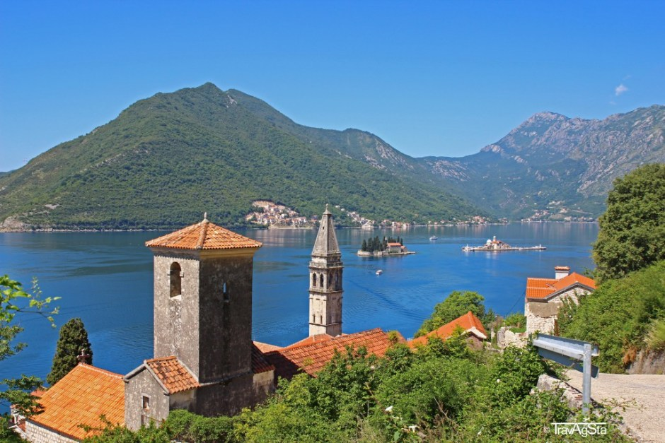 Bay of Kotor, Montenegro; View from Perast