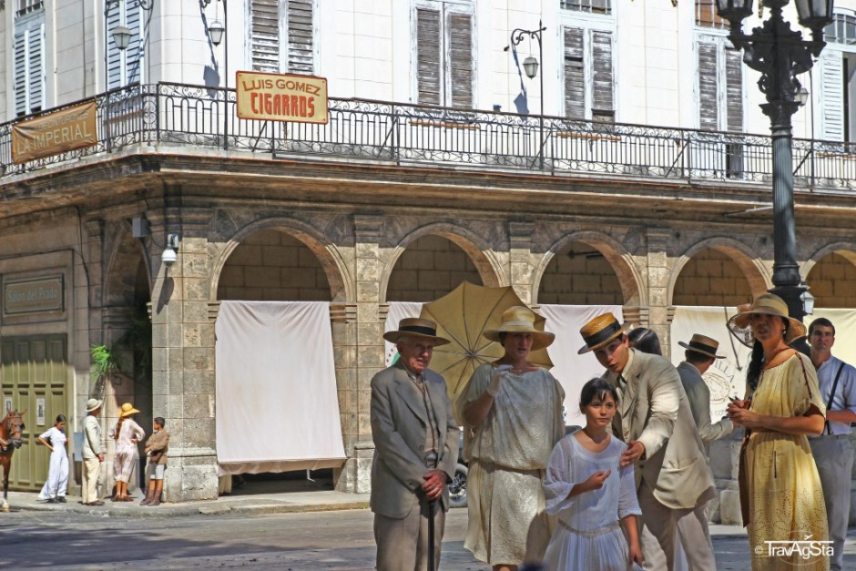 Havana, Cuba; movie set at Paseo del Prado