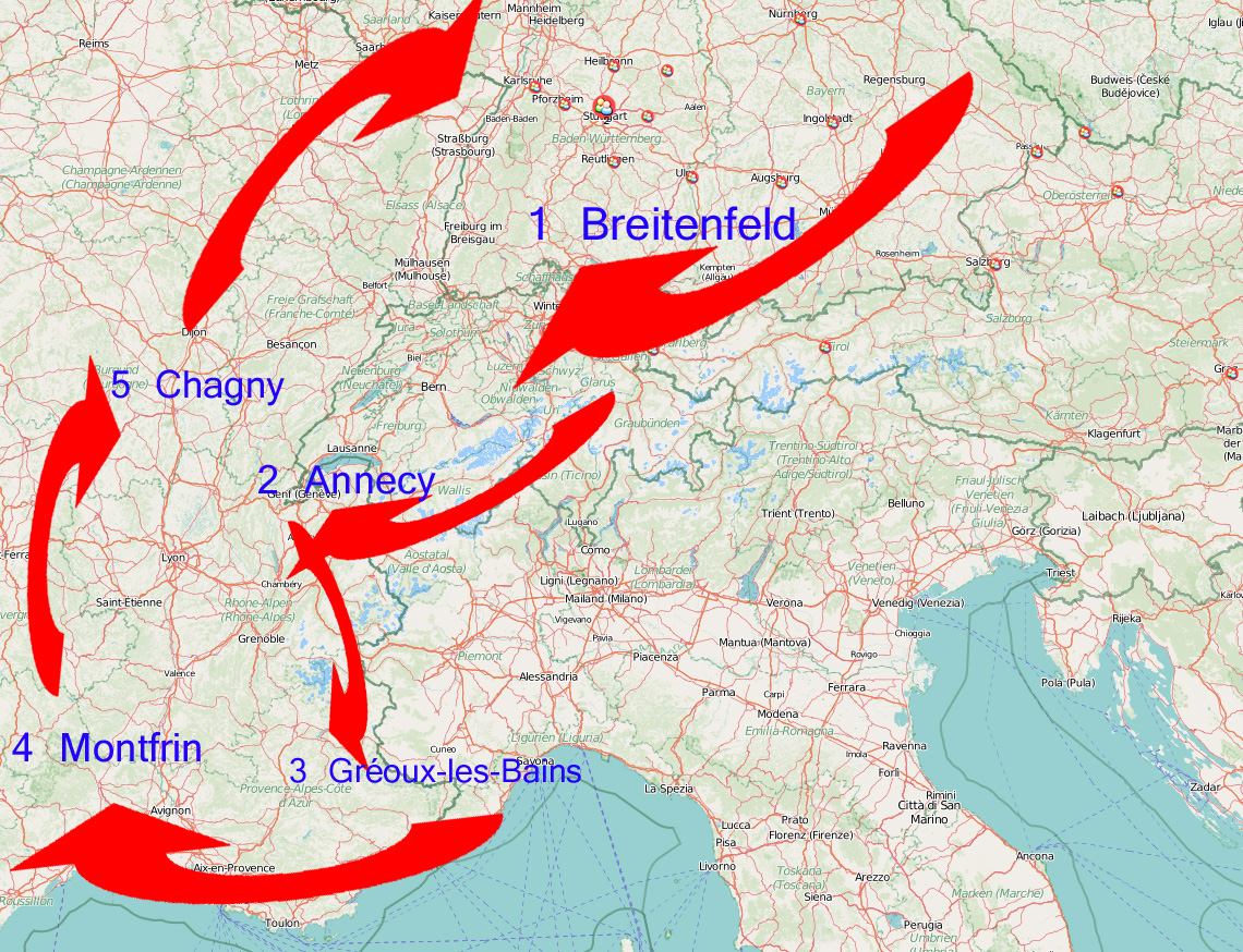 Itinererary for a somewhat different roadtrip: Germany, Switzerland and France!