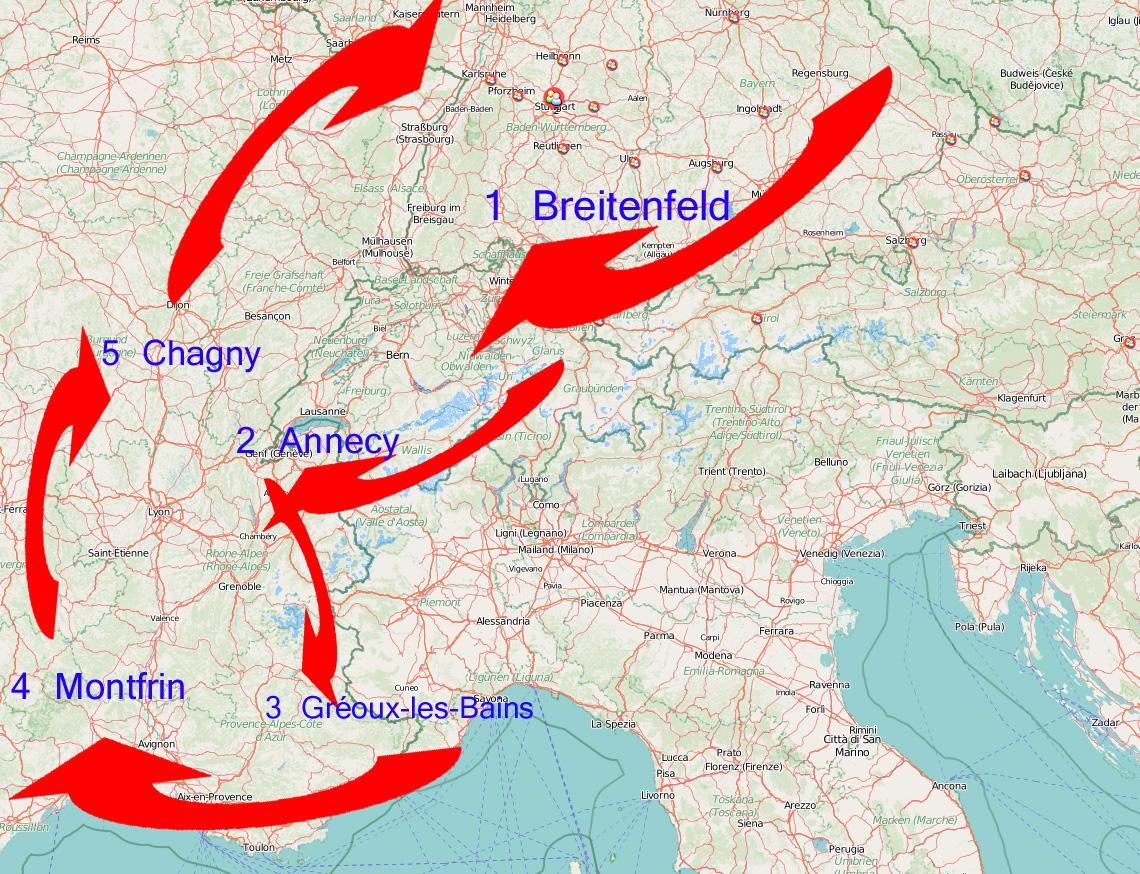 Routenempfehlung für einen etwas anderen Roadtrip: Deutschland, die Schweiz und Frankreich!