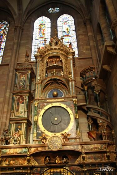 Horloge astronomique, Cathédral de Notre-Dame Strasbourg, Strasbourg, Alsace, France