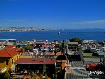 View from the Galata Tower, Istanbul, Turkey