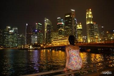 View over the Marina Bay, Esplanade Theatres, Singapore
