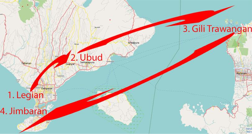 Routenvorschlag Bali