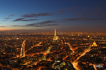 View over Paris, France - copyright Tour Eiffel – illuminations Pierre Bideau