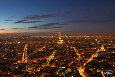 View over Paris, France - copyright Tour Eiffel – illuminations Pierre Bideau