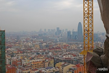 View from La Sagrada Familia, Barcelona, Spain