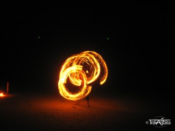 FIRE!!! Show on the beach in the evening