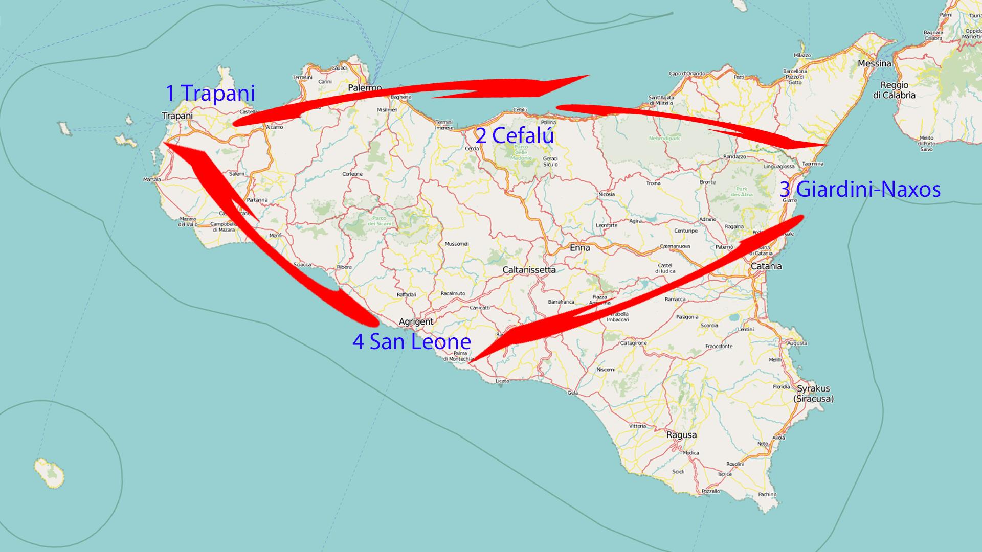 Routenempfehlung für eine Woche Sizilien!