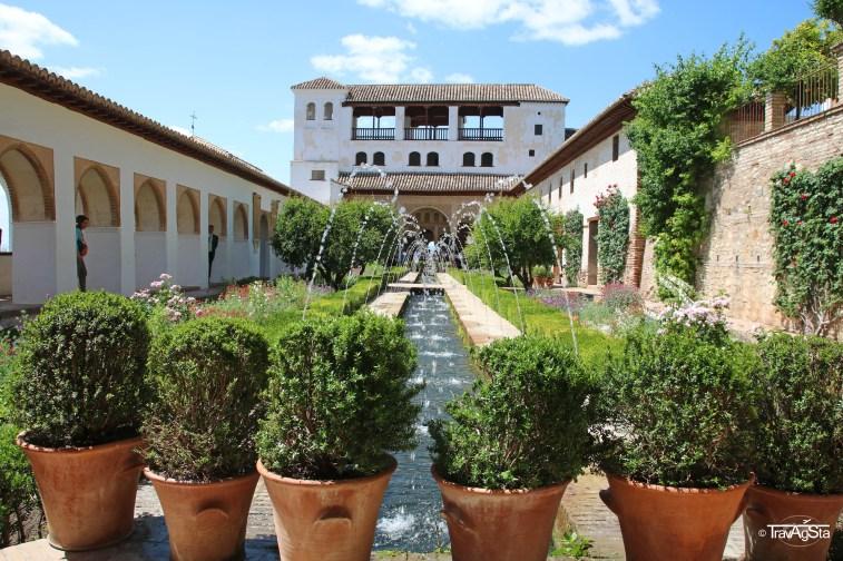 Generalife, Alhambra, Granada, Andalusia, Spain