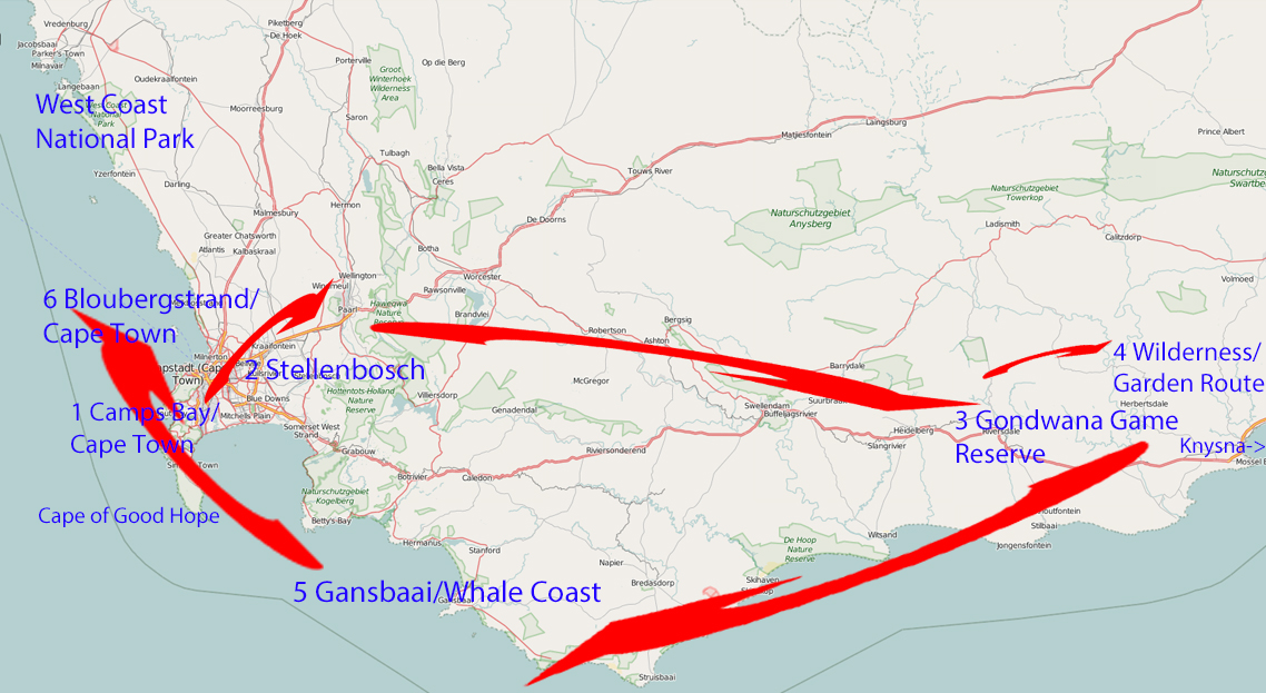 Itinerary for 2 weeks in South Africa – from Cape Town to the Garden Route!