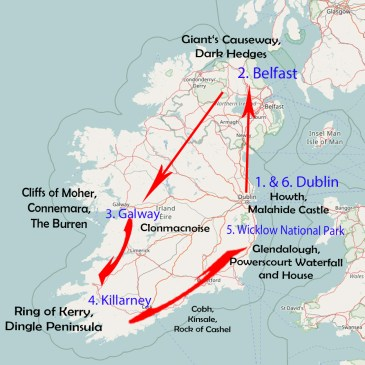 Itinerary for a 10-day road trip through Ireland and Northern Ireland!