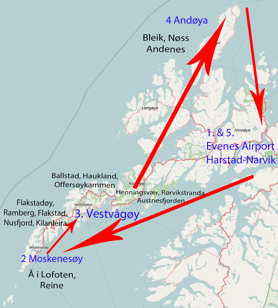 Itinerary for 1 week in Lofoten & Vesterålen!