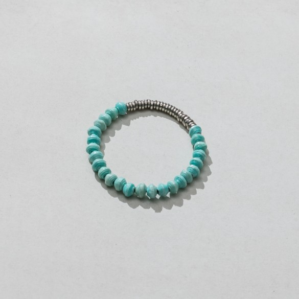 Turquoise bracelet made by paper beads in Africa