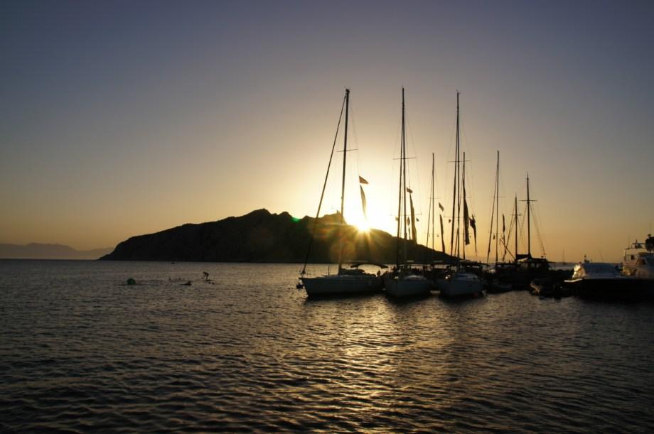 Sunset in Perdika, Aegina