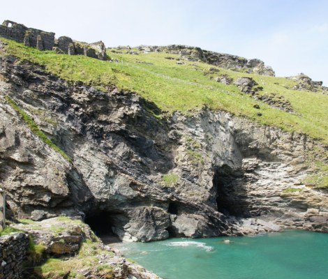 Merlin's Cave at Tintagel Castle