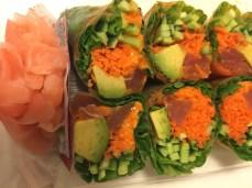 Wholefoods veggie sushi