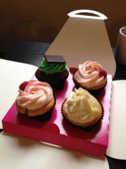 Delicious cupcakes from tiny cupcake shop in Edinburgh, Scotland