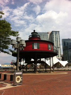 Seven Foot Knoll Lighthouse, today a museum in Baltimore's Inner Harbor