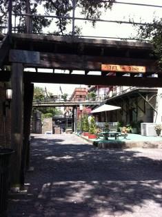 Sweet hidden backside of touristy Savannah Riverwalk