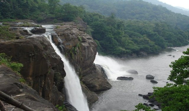 Famous Waterfalls In India : Athirapally Waterfall