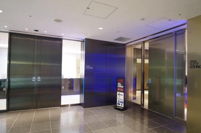 羽田空港国際線 ANAラウンジの入り口