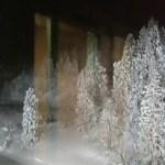銀山温泉 銀山荘 部屋の半露天風呂 夜
