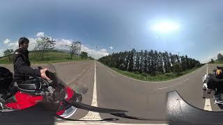 仮想北海道バイク旅「3日目B 夕張-三国峠?⑦探しまくるが無いッ!」360度VR映像