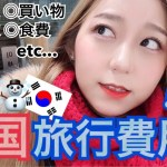 【韓国旅行】冬の韓国旅行費用何から何まで全部公開します!交通費・食費・飛行機代・宿泊費・買い物など!【旅費】