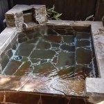 平山温泉・湯の蔵 日帰り特別室「けやき」露天風呂
